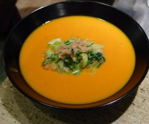 sweet potato coconut carrot soup