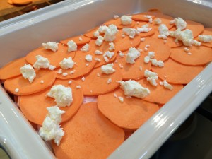 sweet potato chevre gratin
